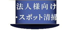 法人様向け定期・スポット清掃専門