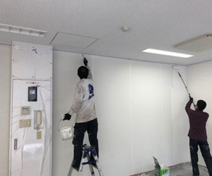 画像:原状回復工事
